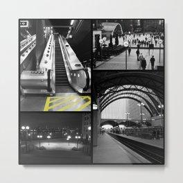 Canary Wharf Collage Metal Print