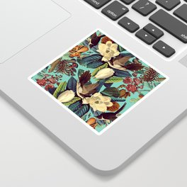 FLORAL AND BIRDS XXI Sticker