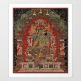 Green Tara 13th Century Tibetan Buddhism Art Art Print