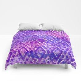 Purple Pyramiding Comforters