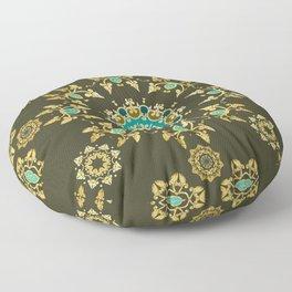 golden pattern Floor Pillow