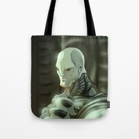 prometheus Tote Bags featuring Prometheus by Kaan Demircelik