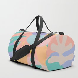 Lemons in Amalfi / Abstract shapes, Pink, Turquoise, Yellow, Lavender Duffle Bag