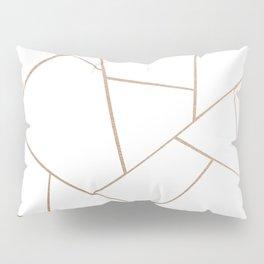 Rose Gold White Geometric Glam #1 #geo #decor #art #society6 Pillow Sham
