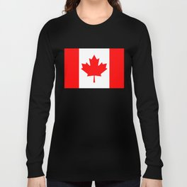 Canadian National flag, Authentic color and 3:5 scale version Long Sleeve T-shirt