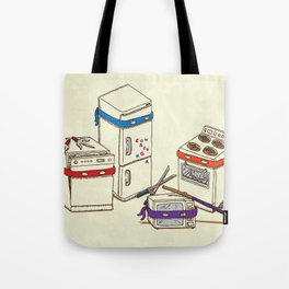 Teenage Mutant Ninja Kitchen Appliances Tote Bag