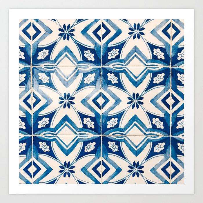 Blue Portugal Tiles #2 Art Print