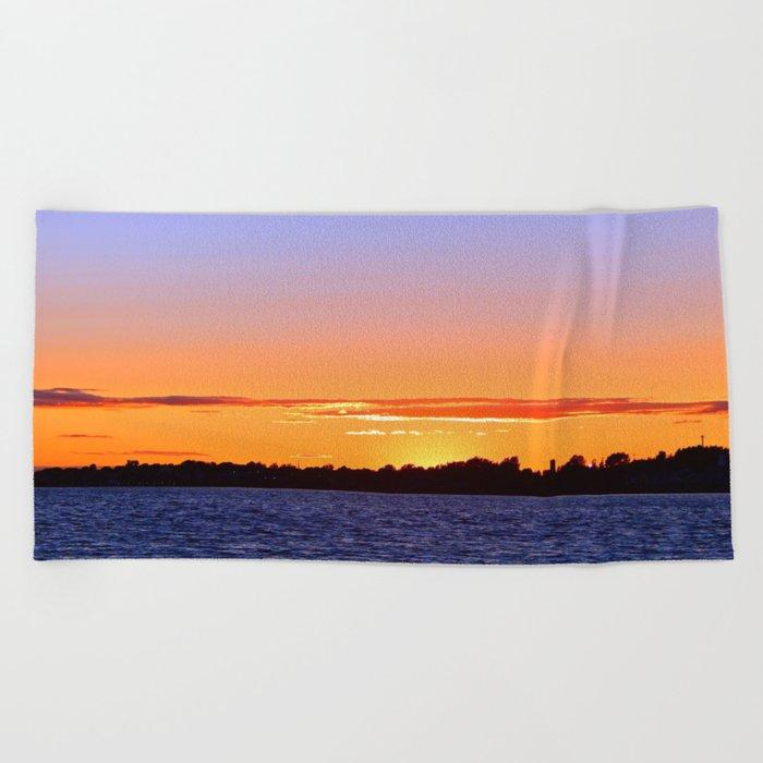 Tequila Sunset Beach Towel