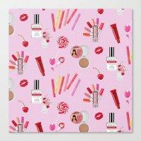 makeup Canvas Prints featuring makeup by fungusmiu