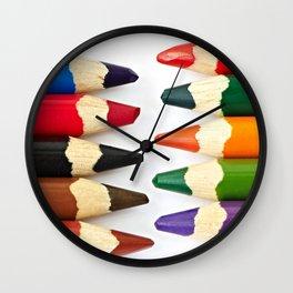 Colour pencils Wall Clock