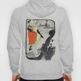 Jane Avril French can-can Jardin de Paris Hoody