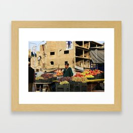 Fruit Vendor; Tripoli, Lebanon. Framed Art Print