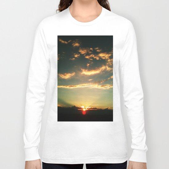 Sunset Blue Long Sleeve T-shirt