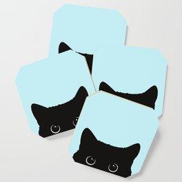 Black cat I Coaster