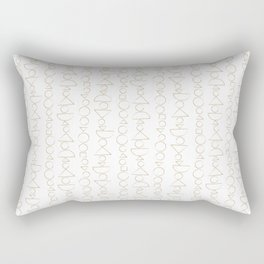 Beaded Curtain, Pattern in Gold Rectangular Pillow