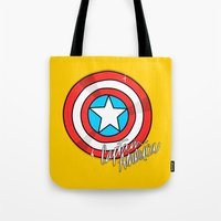 shield Tote Bags featuring Shield by Chelsea Herrick