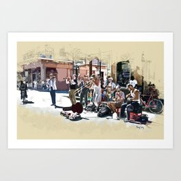 Buskers on Royal Art Print