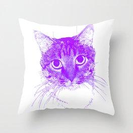 Jazz, drawing, purple Throw Pillow