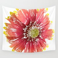 blanket Wall Tapestries featuring Blanket Flower by Regan's World