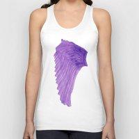 angel wings Tank Tops featuring Purple Angel Wings by The Bohemian Bubble