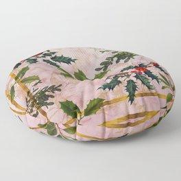 Holly and Mistletoe Floor Pillow