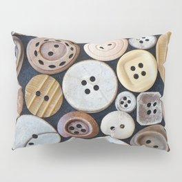 Wooden Buttons Pillow Sham