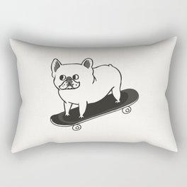 Skateboarding French Bulldog Rectangular Pillow