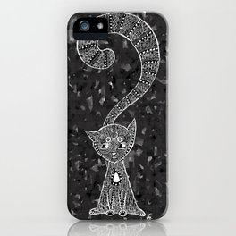 Curious Kitty iPhone Case