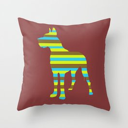 Great Dane Stripes Throw Pillow