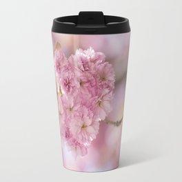 Japanese Cherry Blossom in LOVE Travel Mug