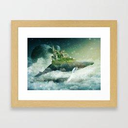Flying kingdoms Framed Art Print
