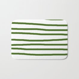 Simply Drawn Stripes in Jungle Green Bath Mat