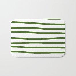 Simply Drawn Stripes in Jungle Green Bath Mat