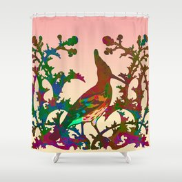 Color hoopoe Shower Curtain