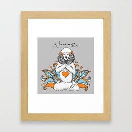 Yoga Poodle Framed Art Print
