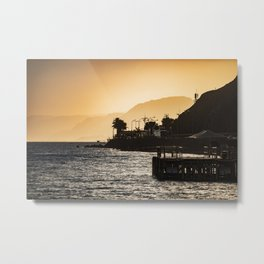 Golden Hour at the Israel-Egyptian Border Metal Print