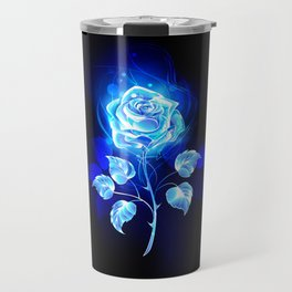 Burning Blue Rose Travel Mug