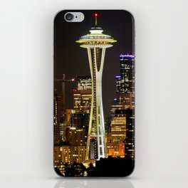 Seattle Space Needle & Cityscape iPhone Skin