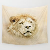 lion Wall Tapestries featuring Lion by Peaky40