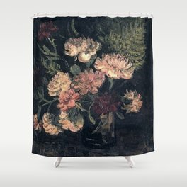Vincent van Gogh Vase With Carnations 1886 Shower Curtain