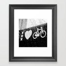 xxx Heart Bike Framed Art Print