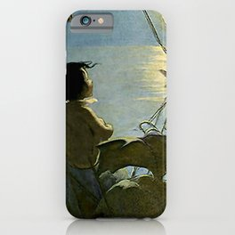"""""""Baby and the Moon"""" by Jessie Willcox Smith iPhone Case"""