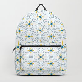 Couple of fake ghost and flower pattern Backpack