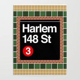subway harlem sign Poster