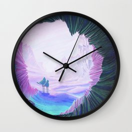 lost in the dunes Wall Clock