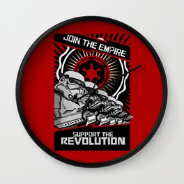 Join the Empire support the revolution apple iPhone 4 4s 5 5s 5c, ipod, ipad, pillow case and tshirt Wall Clock