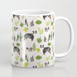 Australian Shepherd owners dog breed cute herding dogs aussie dogs animal pet portrait cactus Coffee Mug