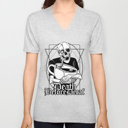Death before Decaf Unisex V-Neck