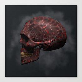 Organic Skull 02 Canvas Print