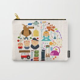 Alice in wonderland + Three Little Pigs aka ALIPIGS Carry-All Pouch